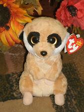 "Ty Beanie Babies ~ Burrows ~ the 6"" Meerkat ~ Mwmt ~ Rare ~ Htf ~ Dob:12/31/11"