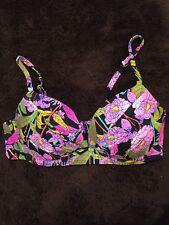 Victoria's Secret Tapestry Angel Convertible Push Up Swim Bikini Top 36C Floral