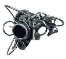 Steampunk Phantom Masquerade Mask with Chain for Men Silver M39270