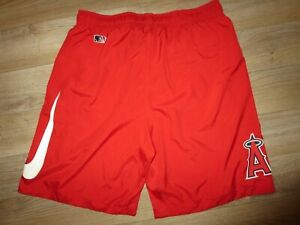LA Angels of Anaheim MLB Team Strength & Training Running Nike Shorts LG L