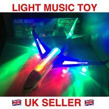 KIDS CHILDREN ELECTRIC LIGHT MUSIC AIR PLANE AIRBUS A380 BUMP N GO TOY UK 43 CM