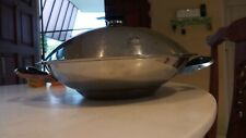 Stainless steel AMC Wok with lid