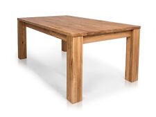 HEIKO Esstisch Massivholztisch Tisch 160x90 ausziehbar 237x90 Holz Wildeiche