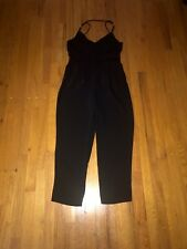 Zara Women's Black Spaghetti Strap Wide Leg Dress Jumpsuit Size M