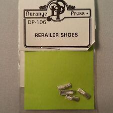 Durango Press HO Scale Details DP-106 Rerailer Shoes (4) - Unpainted - New