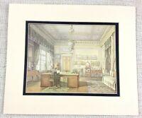 1983 Vintage Stampa The Inverno Palazzo Russia Zar Nicola II Privato Studio Room