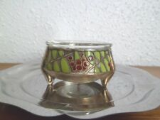 Saleron russe émail large vintage russian salt cellar enameled silver plated