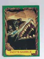 Indiana Jones Raiders Of The Lost Ark Topps 1981 Card 61 Indy's Gamble