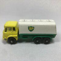 VINTAGE 1964 LESNEY MATCHBOX Bedford Petrol Tanker No.#25-C BP Gas Truck England