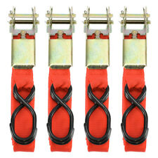 "4pc 1""X15' Ratcheting Tie Down Cargo Straps Truck Bed Motorcycle Hauling Moving"