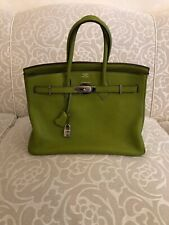 HERMES VERT ANIS GREEN 35CM BIRKIN TOGO LEATHER HANDBAG PALLADIUM HARDWARE