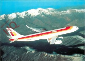 Picture Postcard- IBERIA AIRBUS A340-300 [AIRLINE ISSUE]