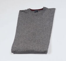 KENZO Mens Grey long sleeved crew neck Wool Sweter Size L * Made in Italy