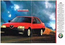 PUBLICITE ADVERTISING  1989   ALFA ROMEO   ALFA 164  3.0V6  (2 pages)