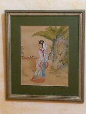 Aquarelle Chinoise début 20 ème siècle sur papier  peinture gouache chine