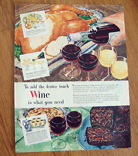 1946 Wine Ad  To add the Festive Touch WINE is what you Need