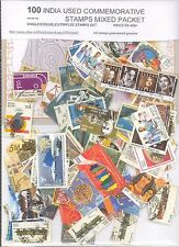 INDIA 100 ALL DIFFERENT USED COMMEMORATIVE STAMPS 100 STAMPS