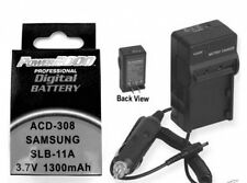 Battery + Charger for Samsung ECWB100B EC-WB100BBP/E3