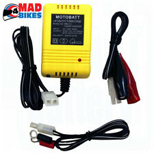 MOTOBATT 6V/12V MOTORCYCLE BATTERY TRICKLE CHARGER AUTO CUT OFF