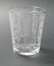 Westmoreland engraved Rose etched cut shot glass