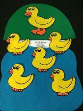 NEW LARGER SIZE Felt/ Flannel Board Story - 5 LITTLE DUCKS preschool circle time