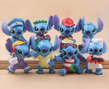 New 8Pcs Lilo & Stitch Stitch Action Figures Toy Kids PVC Ornaments Toys Gift