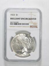 1923 Peace Silver Dollar - Brilliant Uncirculated BU Unc - NGC Graded *