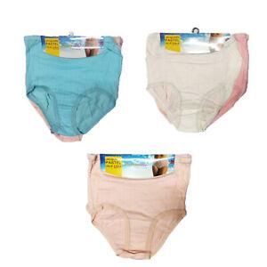3 X PAIRS Big Sizes Ladies  Girls Full Mama Briefs Underwear  Knickers  Pants