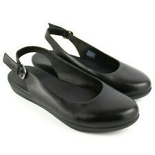 Fitflop Sarita Black Leather Slingback Flats SIZE 9