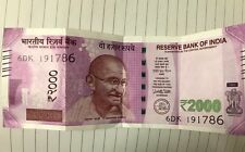 "NEW INDIAN CURRENCY OF 2000 RUPEES NOTE END WITH SERIAL NUMBER HOLY: ""786"""