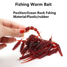 30Pcs  Long Tail Fishing Worm Bait Soft Plastic Lure Capuchin Maggot Durable