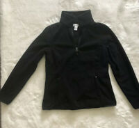 Essentials Women's Quarter-zip Polar Fleece Pullover Jacket, Black, Small