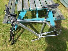Orange O2 Evo mountain bike frame, forks, stem, handlebars and hydraulic brakes