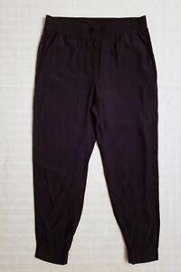Ann Taylor LOFT Rayon Casual Jogger Pant High Rise Elastic Waist Size M 34x28 *Q