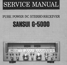 SANSUI G-5000 Pure Power DC récepteur stéréo service manual Inc schms Imprimé ENG