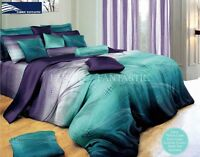 Zephyr Queen Size Bed Duvet/Doona/Quilt Cover Sheet Euro Pillowcases 9pc Set New