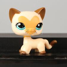 Littlest Pet Shop LPS Heart Face Yellow Tan Short Hair Kitty Cat #3573 Toys