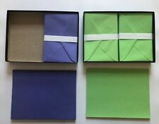 TWO Southworth stationary set paper + envelops purple and green w/ original box