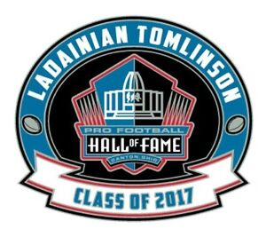 2017 Pro Football Hall of Fame Pin LaDainian Tomlinson San Diego Chargers