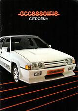 Citroen Accessories 1984-85 UK Market Sales Brochure 2CV LNA Visa GSA BX CX