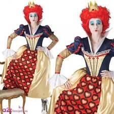 Ladies Red Queen Costume Official Disney Alice Queen Of Hearts Adult Fancy Dress