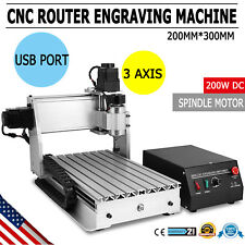 3 Axis 3020T Usb Cnc Router Engraver Cutting T-Screw Woodworking Engraving