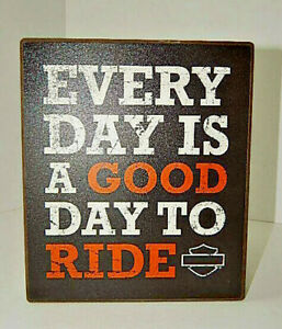 """Harley Davidson Wall Plaque Wall Decor - """"Everyday is a good to day Ride"""""""