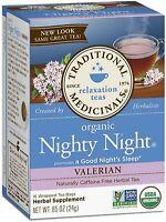 Traditional Medicinals Organic Herbal Tea Bags, Nighty Night Valerian 16 ea 6pk