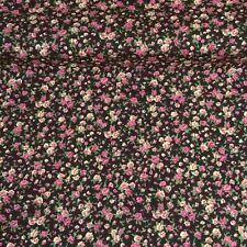 OFFCUT POLYCOTTON FABRIC Sunflower Floral Flower REMNANTS METRES FAST DESPATCH