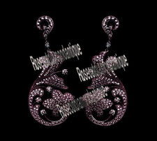 Silver Vintage Design Dangle Party Earrings 3.40ct Real Antique Rose Cut Diamond