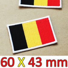 Large Iron On Patch Belgium Belgian Flag Embroidered Brussels Antwerp Limburg EU