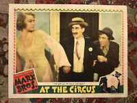 "At The Circus 1939 MGM 11x14"" comedy lobby Florence Rice Groucho Marx Chico Marx"