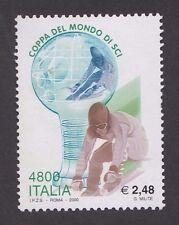 ITALIA 2000 - COPPA DEL MONDO DI SCI - L. 4800 - MINT  used but not canceled