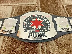 WWE CM PUNK Wrestling Championship Leather Belt
